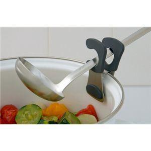 【これは便利♪】KitchenTool レードルクリップ 黒 【2個セット】 - 拡大画像