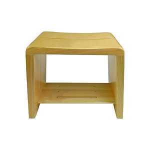 星野工業 高級日光桧 匠の風呂椅子(癒し) - 拡大画像