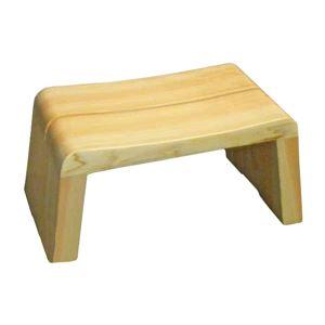 高級日光桧 匠の風呂椅子(癒し) - 拡大画像