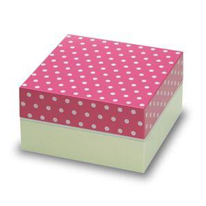 お重・お弁当箱 Paletteパレット オードブル重 2段 ドット ピンク - 拡大画像