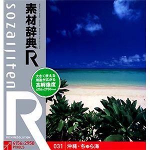 データクラフト 素材辞典[R(アール)] 031 沖縄・ちゅら海 HR-SR031 - 拡大画像