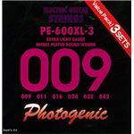 PG フォトジェニック エレキギター弦 PE-600XL-3 3セットパック (009-042) PE-600XL-3