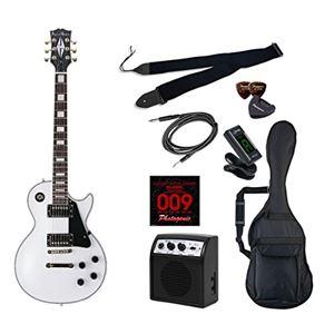 PG エレキギター 初心者入門ライトセット レスポールカスタムタイプ LP-300/WH ホワイト - 拡大画像