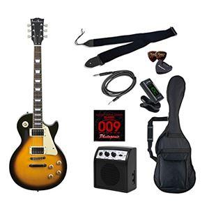 PG エレキギター 初心者入門ライトセット レスポールタイプ LP-260/BS ブラウンサンバースト - 拡大画像