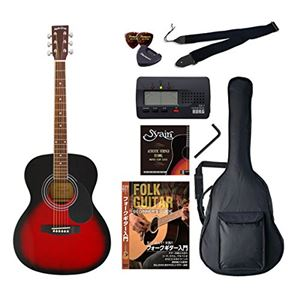 Sepia Crue アコースティックギター バリューセット フォークタイプ FG-10/RDS レッドサンバースト - 拡大画像