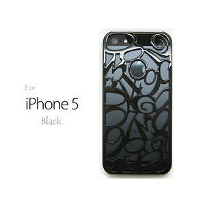 iPhone5★高級ブランドのFRANCK MULLERにも使われている、ビザン数字をかたどったiPhone5ケース♪【全8色】 ブラック - 拡大画像