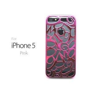 iPhone5★高級ブランドのFRANCK MULLERにも使われている、ビザン数字をかたどったiPhone5ケース♪【全8色】 ピンク - 拡大画像