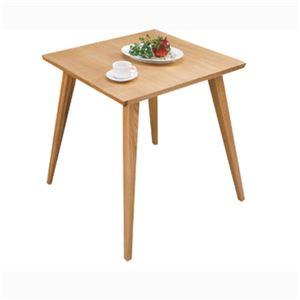 【単品】ダイニングテーブル 【バンビ】 正方形 木製 2人掛けサイズ CL-786TNA ナチュラル - 拡大画像
