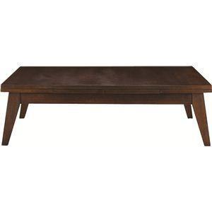 伸長式ローテーブル 木製(天然木) 木目調 CPN-102BR ブラウン - 拡大画像