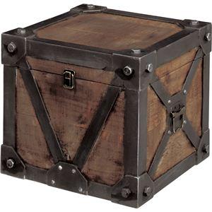 《Traver Furniture》ビンテージ風スタイル トランクS IW-981 - 拡大画像