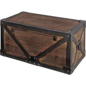 《Traver Furniture》ビンテージ風スタイル トランクM IW-982 - 拡大画像