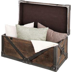 《Traver Furniture》ビンテージ風スタイル トランクL IW-983 - 拡大画像
