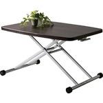 昇降式テーブル/リフティングテーブ 木製/スチール MIP-36BR ブラウン