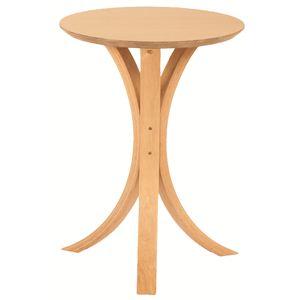 丸型サイドテーブル 木製 高さ54.5cm NET-410NA ナチュラル - 拡大画像