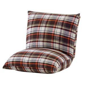 折りたたみ座椅子(コンパクトカックンチェア) 折りたたみ式 綿(コットン)使用 RKC-927BR ブラウン - 拡大画像