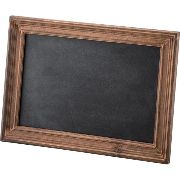 スタンドブラックボード (黒板) 木製 (天然木) 幅22cm×高さ29cm LFS-471BR ブラウン