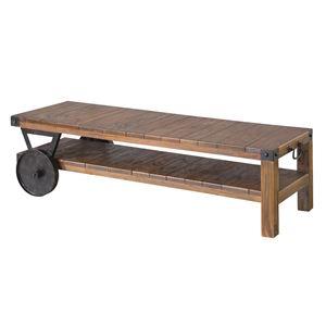 トロリーローボード(テレビ台/ローテーブル) 木製 【幅120cm:37型〜52型対応】 木目調 TTF-118