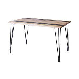 ダイニングテーブル(天然木/アイアン) LEIGHTON(レイトン) ナチュラルミックス NW-113NA - 拡大画像