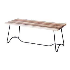 コーヒーテーブル(天然木/アイアン) LEIGHTON(レイトン) ナチュラルミックス NW-111NA