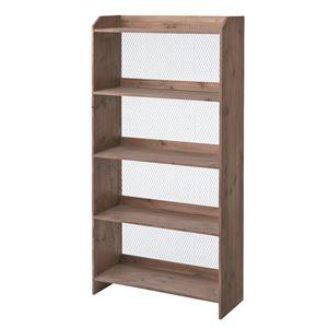 木製オープンシェルフ/収納棚 【4段】 幅72cm×奥行27cm 金網/S字フック付き CCR-116