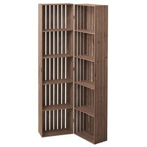 木製トレノ ボックスシェルフ(食器棚/本棚) 幅80cm ハイタイプ 開閉可 CCR-117 〔ディスプレイ家具 什器〕