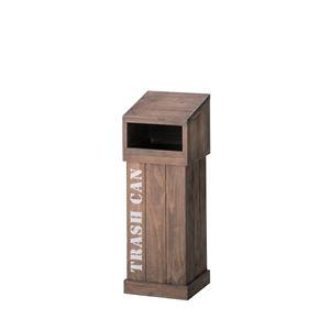 木製ダストボックス/ゴミ箱 【幅22cm×奥行22cm×高さ61cm】 CCR-402 〔インテリア家具 ディスプレイ用品 什器〕 - 拡大画像