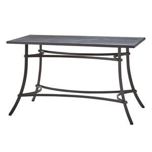スチール製ダイニングテーブル/リビングテーブル 【長方形 幅124cm】 ELS-214 『アンクル』