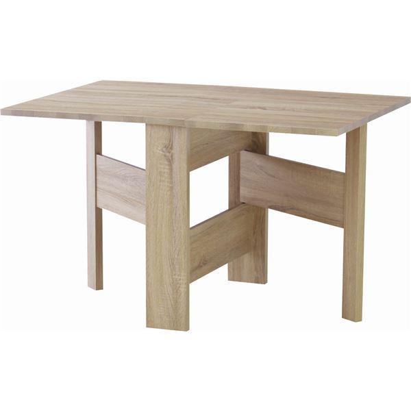 フォールディングダイニングテーブル/折りたたみテーブル 【幅120cm】 ナチュラル 木目調 『フィーカ』 FIK-103NA