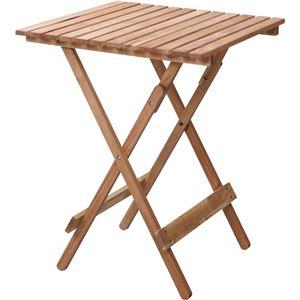 天然木フォールディングテーブル/折りたたみテーブル 【正方形 幅60cm】 ナチュラル LFS-356NA