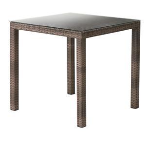 メッシュ柄ダイニングテーブル/リビングテーブル 【正方形 幅76cm】 強化ガラス天板 NRS-431T
