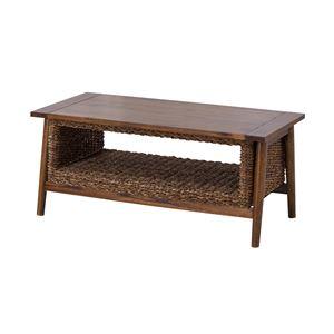 アジアンテイストコーヒーテーブル/ローテーブル 【幅100cm】 木製 マホガニー・アバカ NRS-454