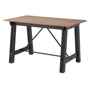 ウッディテイストダイニングテーブル/リビングテーブル 【長方形 幅120cm】 木製 天然木 NW-852T 〔インテリア家具 什器〕