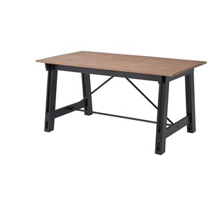 ウッディテイストダイニングテーブル/リビングテーブル 【長方形 幅150cm】 木製 天然木 NW-853T 〔インテリア家具 什器〕 - 拡大画像
