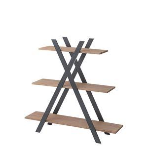 ウッディテイストシェルフ/オープン収納棚 【3段】 幅130cm 木製 天然木 NW-859 〔インテリア家具 什器〕