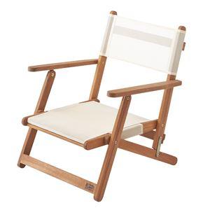 天然木フォールディングチェア(折りたたみ椅子) 木製/アカシア NX-511 〔アウトドア キャンプ お庭 テラス〕 - 拡大画像