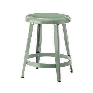 スチール製スツール/丸椅子 【グリーン】 直径36cm×高さ45cm PC-65GR 〔インテリア家具 ディスプレイ用品 什器〕 - 拡大画像