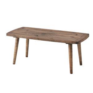木製コーヒーテーブル/ローテーブル 【Sサイズ 幅100cm】 長方形 木目調 PM-451