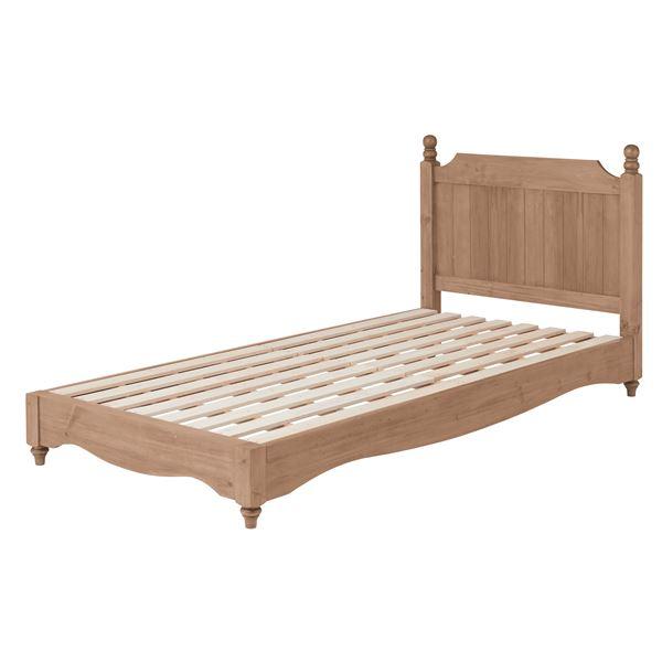 アンティーク調ベッド/すのこベッド 本体 【シングルサイズ】 木製 木目調 『バーニー』画像01