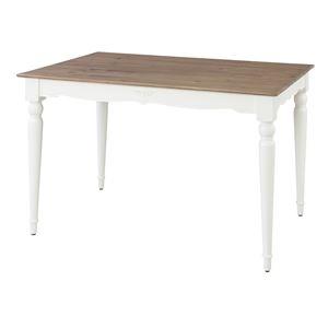 アンティーク風ダイニングテーブル/リビングテーブル 【長方形 幅120cm】 木製 『ビッキー』 PM-862