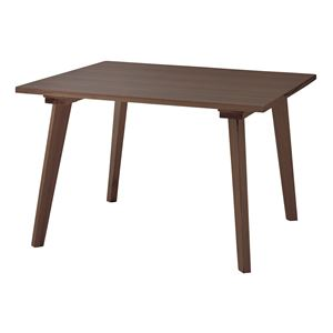 スクエアダイニングテーブル ブラウン
