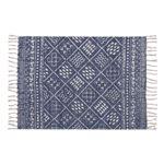 ラグマット/絨毯 【70cm×50cm ブルー】 長方形 コットン製 裏面:スベリ止め加工 TTR-118BL