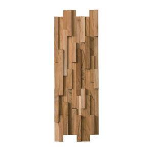ウォールパネル/壁材 【幅60cm】 天然木(チーク) オイル仕上げ ウォールナット WALL-101 - 拡大画像