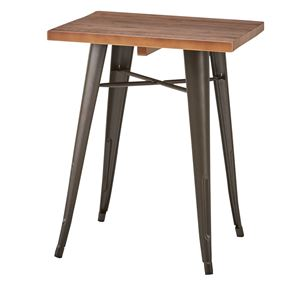 天然木×スチールダイニングテーブル