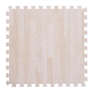 木目調ジョイントマット/プレイマット 【30cm×30cm】 9枚×3セット(計27枚) ホワイト カット可