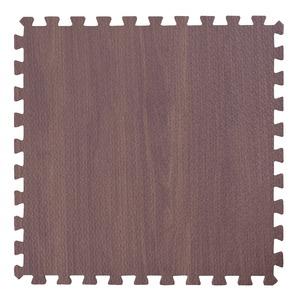 木目調ジョイントマット/プレイマット 【30cm×30cm】 9枚×3セット(計27枚) ブラウン カット可 - 拡大画像