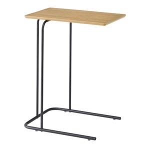 サイドテーブル/ミニテーブル 【ナチュラル 幅35cm】 スチール 『アーロン』 〔リビング ダイニング ベッドルーム 寝室〕 - 拡大画像