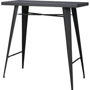 モダン カウンターテーブル/ダイニングテーブル 【幅105cm】 長方形 スチール 〔リビング ダイニング 店舗 オフィス〕 - 拡大画像