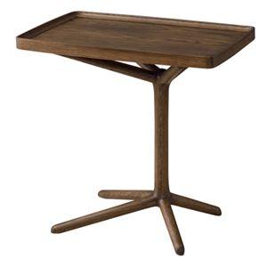 2WAY サイドテーブル ブラウン 【幅:54cm】GT-880BR