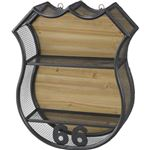 壁掛け リビング収納 【LFS-591A】 幅49cm スチール 木製 ラッカー塗装 『ウォールラック』 〔店舗 リビング ダイニング〕