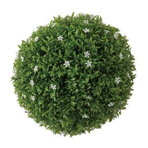 観葉植物/造花 【ボールフェイクグリーンL LFS-903B】 ポリエチレン 〔部屋 内装 リビング ダイニング〕 - 拡大画像